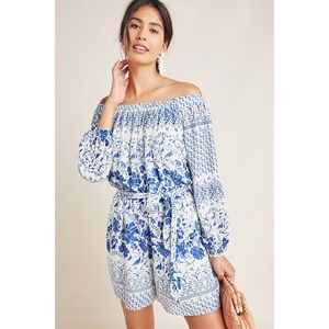 ANTHROPOLOGIE | Clemente Off Shoulder Romper